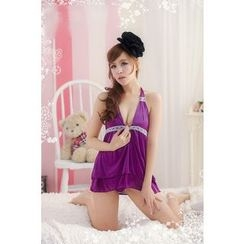Joy Love Club - Set: Lace Nightdress + Thong