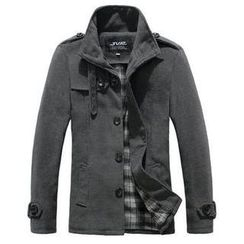 JVR - Stand-Collar Single-Breasted Coat