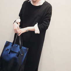 NANING9 - Wool Blend Knit Long Dress