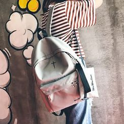 Carryme - Set: Ring-Accent Backpack + Pouch