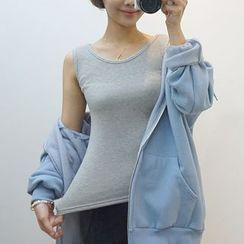 Seoul Fashion - Brushed-Fleece Lined Tank Top