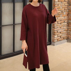 Seoul Fashion - Long-Sleeved T-Shirt Dress