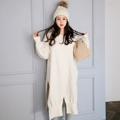 PPGIRL - Slit-Side Pullover Dress