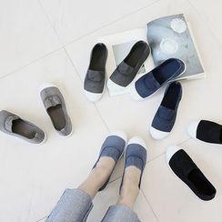 NANING9 - Cotton Washed Slip-Ons