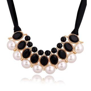 Best Jewellery - Faux-Pearl & Jewel Necklace