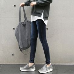 CLICK - Brushed-Fleece Skinny Jeans