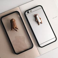 Casei Colour - Cat Transparent iPhone 6 / 6 Plus Case