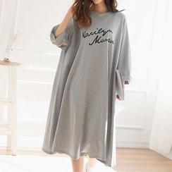 Champi - 字母長袖T恤裙