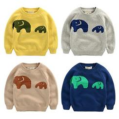 Kido - 小童小象图案毛衣