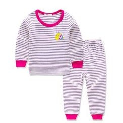 Aquafaba - Kids Pajama Set: Long-Sleeve Striped T-Shirt + Pants
