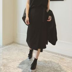 QZ Lady - Wrap Midi Skirt