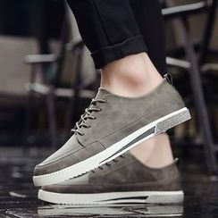HANO - Plain Faux-Leather Sneakers
