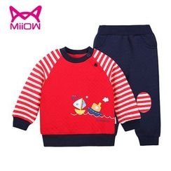MiiOW - Kids Set: Printed Pullover + Pants