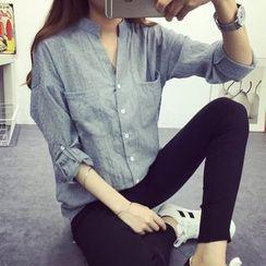 Neeya - 七分袖麻紡襯衫