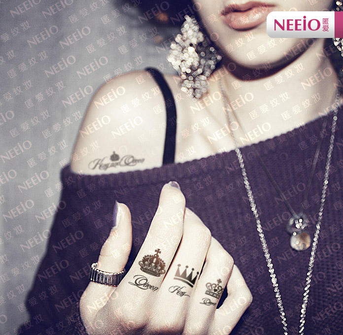 Neeio waterproof temporary tattoo crown yesstyle for Temporary finger tattoos