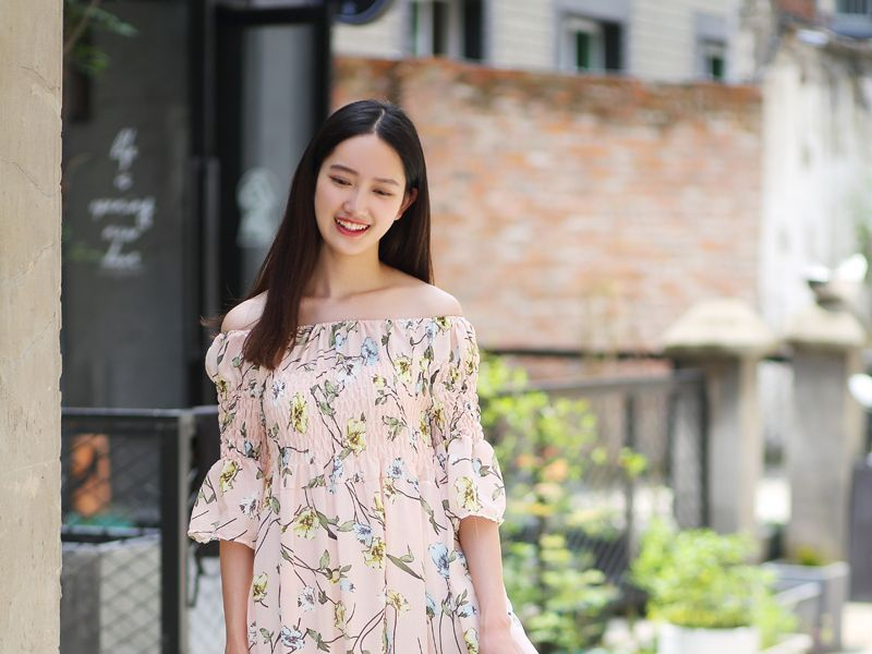yes style maxi dress off shoulder