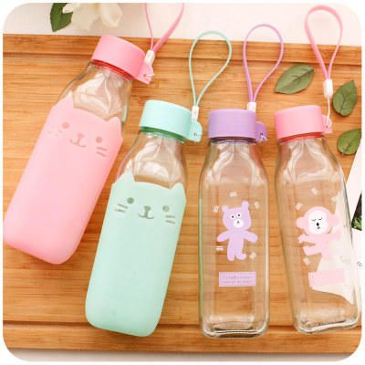 cute water bottles momoi animal glass bottle yesstyle 12196